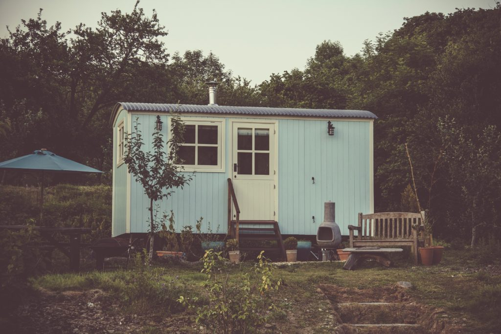 Kleines blaues Haus